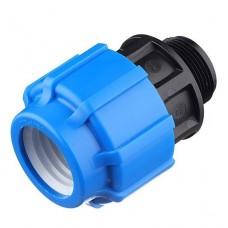 Муфта компрессионная ТПК-Аква 25 мм 3/4 дюйма с наружной резьбой