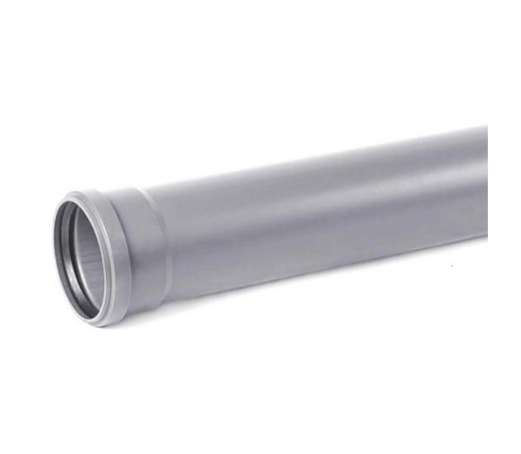 Труба канализационная ПВХ Хемкор Ду 50х3,2х1500 мм с кольцом