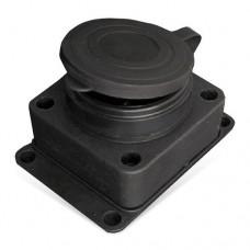 Розетка UNIVersal 602229 IP44 одноместная с заземлением и крышкой черная
