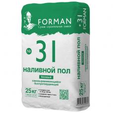 Пол наливной самовыравнивающийся Forman 31 базовый 25 кг