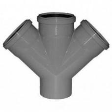 Крестовина канализационная ПП 50х50х50х50 мм 45 градусов с кольцом