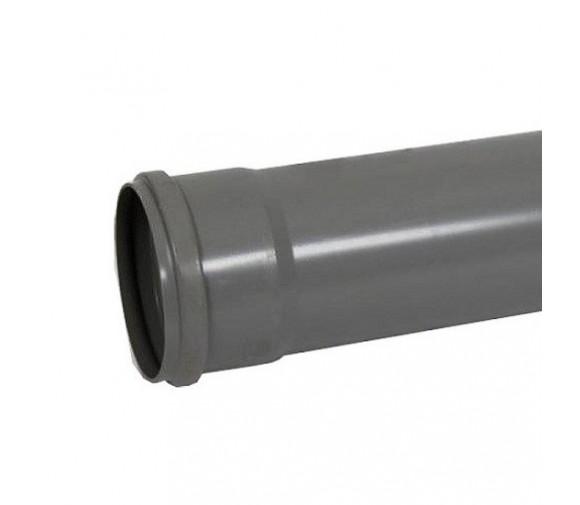 Труба канализационная ПП Саратовпластика Дн 110х2,7х1000 мм с кольцом ЭКО