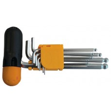 Набор ключей имбусовых Hex с шаром и Т-образной рукояткой 9 шт CR-V