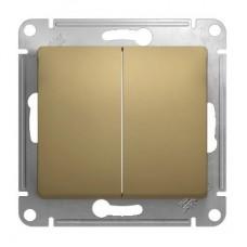 Механизм выключателя Schneider Electric Glossa GSL000451 двухклавишный титан