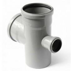Крестовина канализационная ПП 110х110х50х110 мм 90 градусов с кольцом