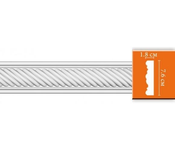 Молдинг полиуретановый Decomaster DT 9060 2400х76х18 мм