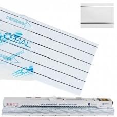 Cesal S-150 2х1 м B19 жемчужно-белый с металлической полосой