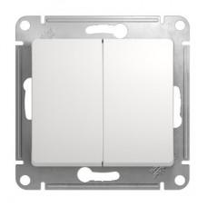 Механизм переключателя Schneider Electric Glossa GSL000165 двухклавишный белый