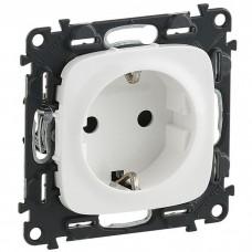 Механизм розетки Legrand Valena Allure 753724 одноместный с заземлением и защитными шторками белый
