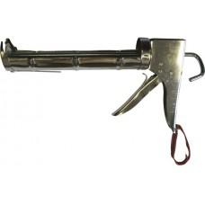 Пистолет полукорп. хром.с зуб. штоком ф.7мм 320 мл