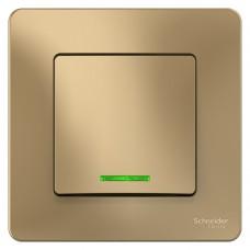 Выключатель Schneider Electric Blanca BLNVS010114 одноклавишный с индикатором титан