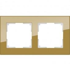 Рамка двухместная Werkel Favorit WL01-Frame-02 бронзовая