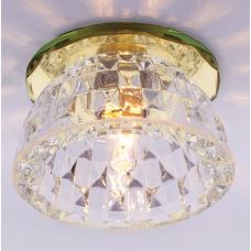 Светильник точечный встраиваемый Italmac Bohemia 220 5 73 G9 золото 40 Вт