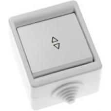 Переключатель Кунцево-Электро А610-326 IP44 одноклавишный белый
