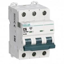 Автоматический выключатель DEKraft ВА-105 3п C 6А 10кА