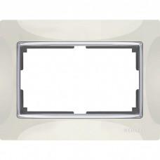 Рамка для двойной розетки Werkel Snabb WL03-Frame-01-DBL-ivory Слоновая кость