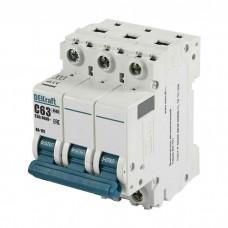 Автоматический выключатель DEKraft ВА-101 3п C 63А 4.5кА