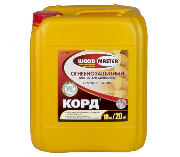 Огнебиозащитный состав Woodmaster Корд 10 кг