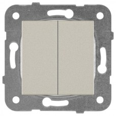 Механизм выключателя Panasonic Karre Plus WKTT00092BR-RES двухклавишный бронза