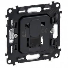 Механизм компьютерной розетки Legrand Valena In'matic 753070 RJ45 одноместный черный