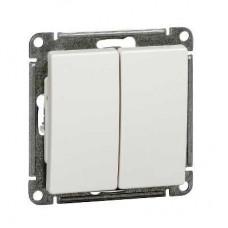 Механизм выключателя Schneider Electric W59 VS510-252-1-86 двухклавишный белый