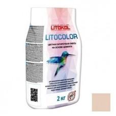 Смесь затирочная цементная для швов Litokol Litocolor L.23 темно-бежевая 2 кг