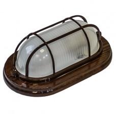Светильник для бани и сауны Italmac Termo 100 21 16 накладной с решеткой 150 Вт Венге