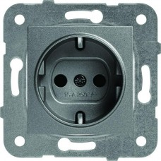 Механизм розетки Panasonic Karre Plus WKTT02022DG-RES с заземлением темно-серый