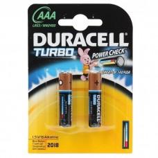 Батарейка алкалиновая Duracell Turbo AAA LR03 Bl-2 2 шт