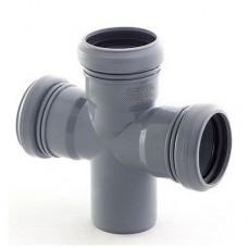 Крестовина канализационная ПП 50х50х50х50 мм 90 градусов с кольцом