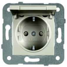 Механизм розетки Panasonic Karre Plus WKTT02102BR-RES с заземлением и крышкой бронза