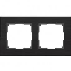 Рамка двухместная Werkel Aluminium WL11-Frame-02 черный алюминий