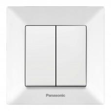 Выключатель Panasonic Arkedia WMTC00092WH-RES двухклавишный белый
