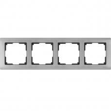Рамка четырехместная Werkel Metallic WL02-Frame-04 глянцевый никель
