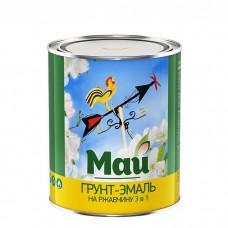 Грунт-эмаль по ржавчине Май 3 в 1 белая 1,9 кг