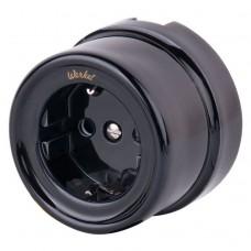 Werkel Retro WL18-03-01 одноместная с заземлением черная