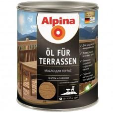 Масло для террас Alpina шелковисто-глянцевое среднее 0,75 л