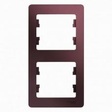 Рамка двухместная Schneider Electric Glossa GSL001106 баклажановая