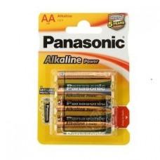 Батарейка алкалиновая Panasonic Alkaline AA LR6 BL4 4 шт