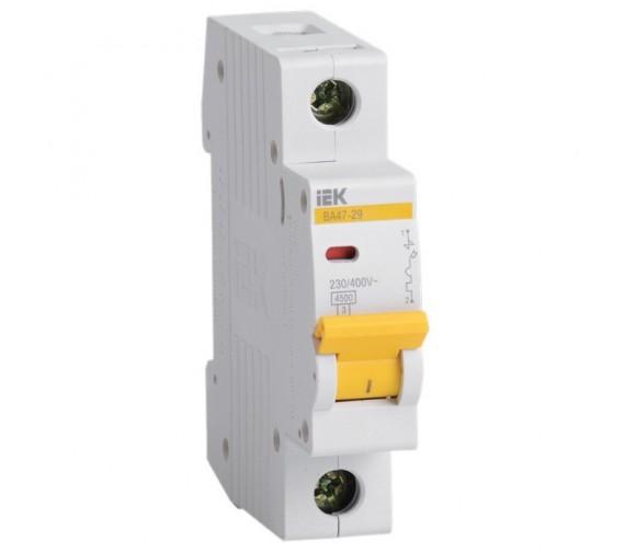 Автоматический выключатель IEK ВА47-29 MVA20-1-020-C 1P 20 A