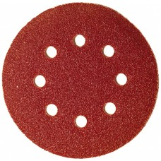 Круг абразивный для липучки ПЕРФО 8 отверстий Р100 125 мм