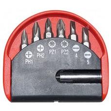 Набор бит с магнитным адаптером 7 шт. TORX CrV