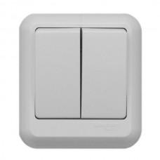 Выключатель Schneider Electric Прима A56-029M-B двухклавишный белый