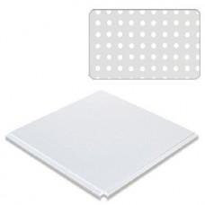 Потолок кассетный Cesal Profi Line Белый матовый 3306 с перфорацией 595х595 мм
