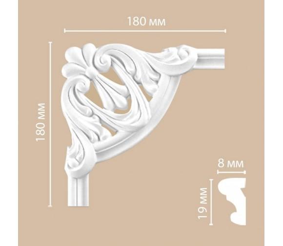 Угол декоративный для молдинга Decomaster 97100-1 180х180х18 мм