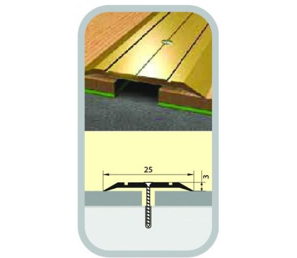Порог узкий стык 25х1350 мм вишня деревенская