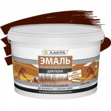 Эмаль акриловая Лакра для пола красно-коричневая 2,4 кг