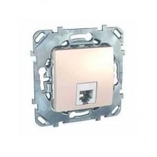 Механизм телефонной розетки Schneider Electric Unica MGU5.492.25ZD RJ11 одноместный Слоновая кость