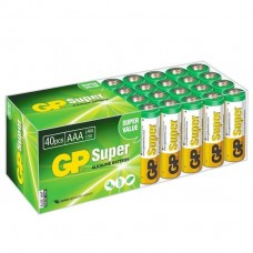 Батарейка алкалиновая GP Batteries Super Alkaline 24А ААA 40 шт.