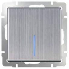 Механизм выключателя Werkel WL02-SW-1G-LED одноклавишный с индикатором глянцевый никель